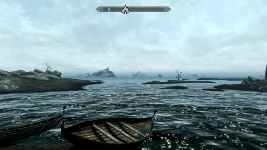 Skyrim with the dreaded map compass